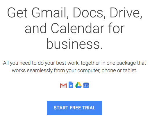 g suite - Gmail, Docs, Drive, Calendar for business